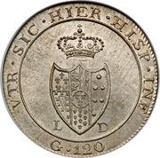 120 grana - Fernando IV – revers
