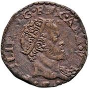 1 Tornese - Felipe II – avers