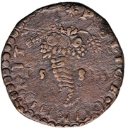 1 Tornese - Felipe II – revers