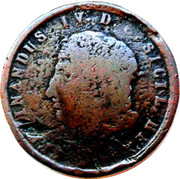 5 Tornesi - Ferdinando IV – avers