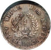 1 lira - Joachim Murat – revers