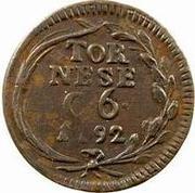 1 tornese Ferdinando IV – revers