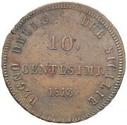 10 Centesimi - Joachim Murat – revers