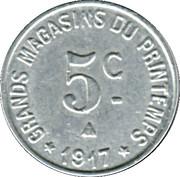 5 centimes - Maison Milhaud - Narbonne [11] – revers