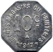 10 Centimes - Maison MILHAUD - Narbonne [11] – revers