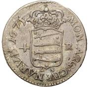 4 rundstück Charles XI (sans deux cercles intérieurs) – revers