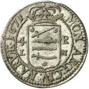 4 rundstück Charles XI (avec deux cercles intérieurs) – revers