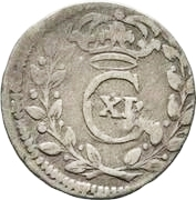 1 rundstück Charles XI (sans ruban) – avers