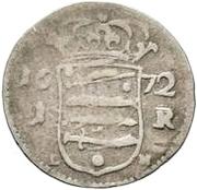 1 rundstück Charles XI (sans ruban) – revers