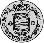4 rundstück Carl XI (sans cercle intérieur de le revers) – revers