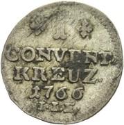 1 Kreuzer, Convention – revers