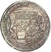 1 thaler - Johann Franz, Heinrich, Wilhelm Moritz, Heinrich Casimir et Franz Alexander – revers