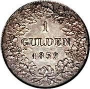 1 gulden - Wilhelm – revers
