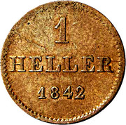 1 heller - Adolph – revers