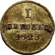 1 kreuzer - Wilhelm – revers