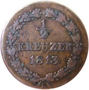 ½ kreuzer - Friedrich August & Friedrich Wilhelm – revers