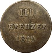 3 kreuzer - Friedrich August & Friedrich Wilhelm – revers