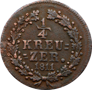 ¼ kreuzer - Friedrich August & Friedrich Wilhelm – revers