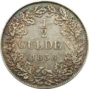 ½ gulden - Wilhelm – revers