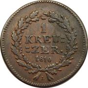 1 kreuzer - Friedrich August &  Friedrich Wilhelm – revers