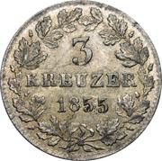 3 kreuzer - Adolph – revers