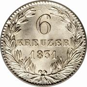 6 kreuzer - Wilhelm – revers