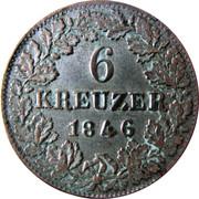 6 kreuzer - Adolph – revers