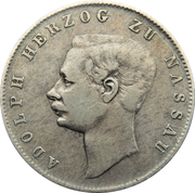 ½ gulden - Adolph – avers
