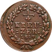 ¼ kreuzer - Wilhelm – revers