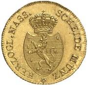 ¼ kreuzer Friedrich Wilhelm & Friedrich August (Frappe essai en or) – avers
