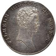 1 kronenthaler Wilhelm – avers