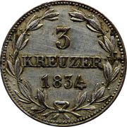 3 kreuzer - Wilhelm – revers