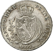 1 Thaler - Friedrich August – revers