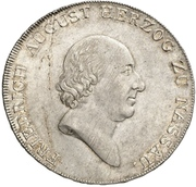 1 Thaler - Friedrich August – avers