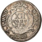 12 kreuzer - Karl August – revers