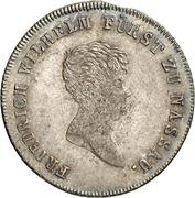 10 Kreuzer - Friedrich Wilhelm zu Weilburg (Konventionskreuzer) – avers