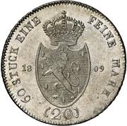 20 kreuzer - Friedrich Wilhelm zu Weilburg (Konventionskreuzer) – revers