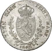 1 Thaler - Friedrich Wilhelm zu Weilburg – revers