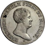 1 thaler - Friedrich Wilhelm zu Weilburg (Konventionstaler) – avers