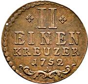 ½ kreuzer - Karl August – revers