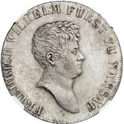 1 thaler Friedrich Wilhelm de Weilburg (Essai) – avers