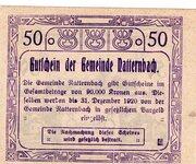 50 Heller (Natternbach) -  revers