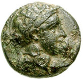 Bronze Æ11 (Naulochos) – avers