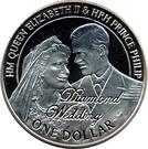 1 dollar - Elisabeth II (noces de diamant) – revers