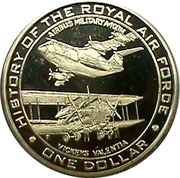 1 Dollar - Elizabeth II (History of the Royal Air Force) – revers