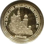 5 dollars chateau NEUSCHWANSTEIN – revers