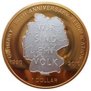 1 Dollar (Allemagne - 20ème anniversaire de la Réunification) – revers