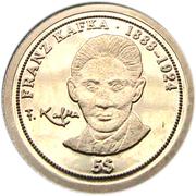 5 dollars KAFKA – revers