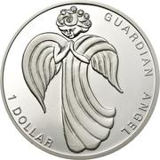 1 dollar - Elizabeth II (Ange gardien) – revers