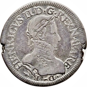Teston - Henri II de Béarn, III de Navarre, IV de France – avers